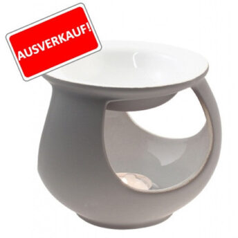 Duftlampe Keramik, grau