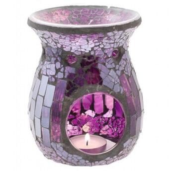 Duftlampe, Mosaik Glas lila