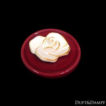 Duftstein Rose auf Unterteller
