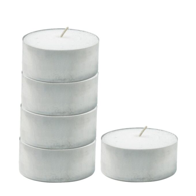 Rechaud-Kerzen in Aluminiumbecher 5er-Set