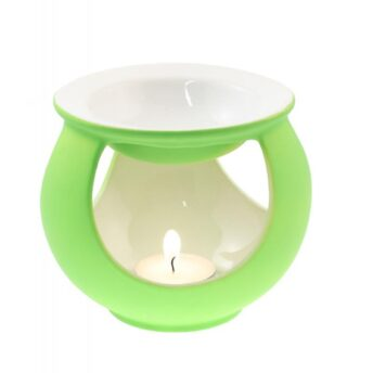 Duftlampe Keramik gruen