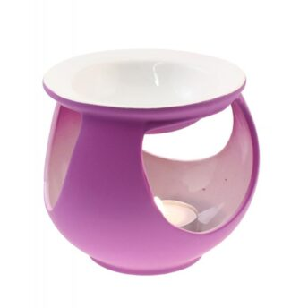 Duftlampe Keramik lila