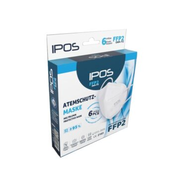 FFP2 Atemschutzmaske von IPOS – MUSK001 – CE2163